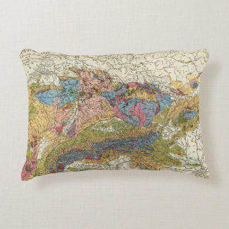 Mapa geológico de Alemania Cojín Decorativo