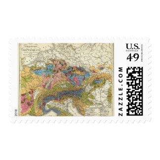 Mapa geológico de Alemania Sellos Postales