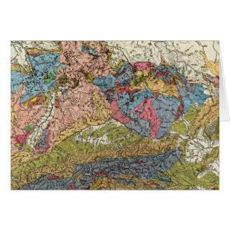 Mapa geológico de Alemania Tarjeta De Felicitación