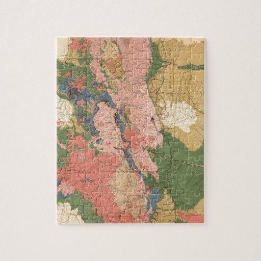 Mapa geológico de Colorado Puzzle