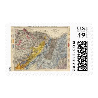 Mapa geológico de Edimburgo Sello Postal