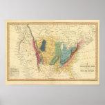 Mapa geológico de Estados Unidos Impresiones