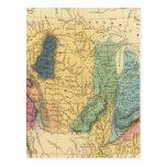 Mapa geológico de Estados Unidos Postal