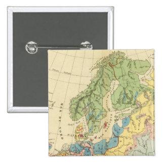 Mapa geológico de Europa Pins