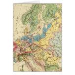 Mapa geológico de Europa Tarjeta De Felicitación