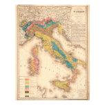 Mapa geológico de Italia de H. de Collegno (1844) Membrete Personalizado
