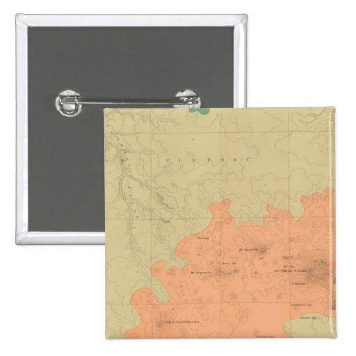 Mapa geológico de la meseta de Colorado Pin Cuadrada 5 Cm