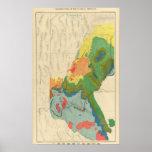 Mapa geológico de la parte occidental póster