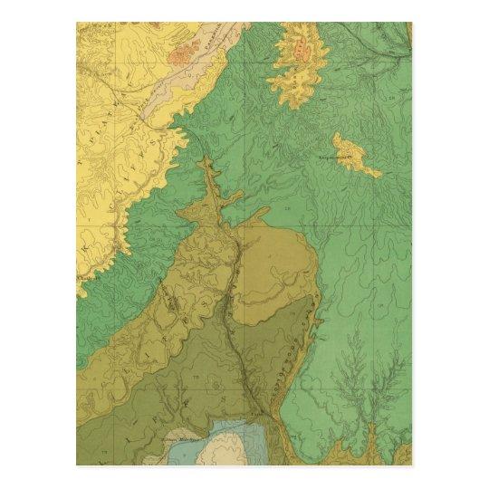Mapa geológico de las terrazas mesozoicas postales