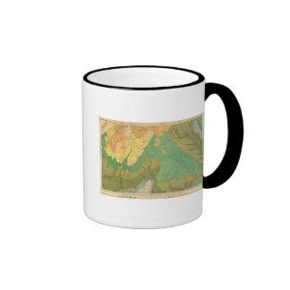 Mapa geológico de las terrazas mesozoicas taza de café