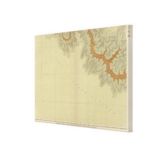 Mapa geológico de los 2 meridionales impresion de lienzo