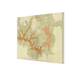 Mapa geológico de los 3 meridionales lona envuelta para galerías