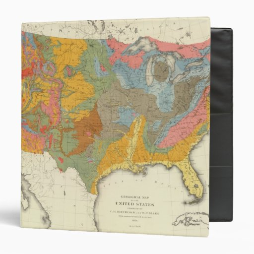 """Mapa geológico de los E.E.U.U. Carpeta 1 1/2"""""""