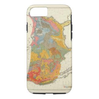 Mapa geológico de los E.E.U.U. Funda iPhone 7