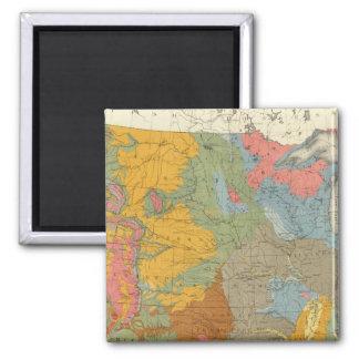Mapa geológico de los E.E.U.U. Imán De Nevera