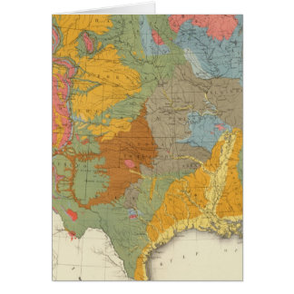 Mapa geológico de los E.E.U.U. Tarjeta De Felicitación
