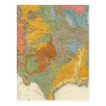 Mapa geológico de los E.E.U.U. Tarjetas Postales