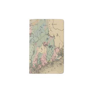 Mapa geológico de Maine Funda Para Libreta Y Libreta Pequeña Moleskine