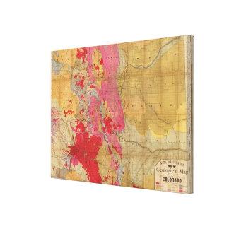 Mapa geológico de McNally del rand el nuevo Impresion De Lienzo