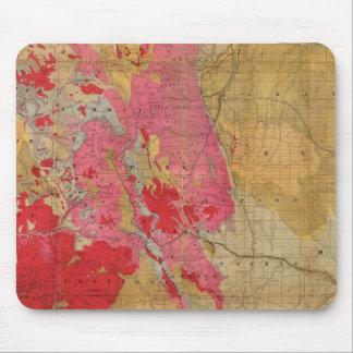 Mapa geológico de McNally del rand el nuevo Mousepads