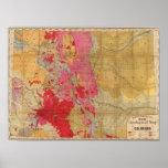 Mapa geológico de McNally del rand el nuevo Posters