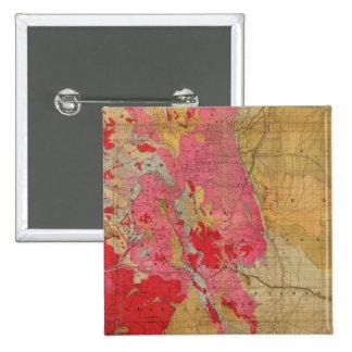Mapa geológico de McNally del rand el nuevo Pin Cuadrada 5 Cm