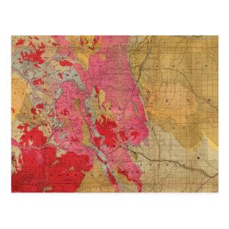 Mapa geológico de McNally del rand el nuevo Postal