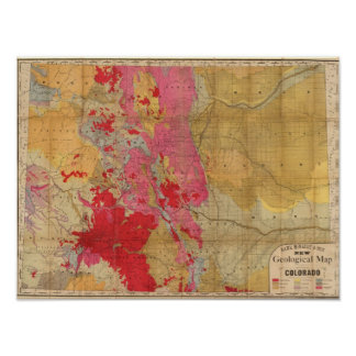 Mapa geológico de McNally del rand el nuevo Póster