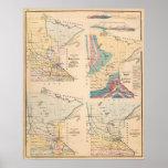 Mapa geológico de Minnesota por NH Winchell Posters