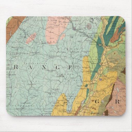 Mapa geológico de New Hampshire 2 Mouse Pad