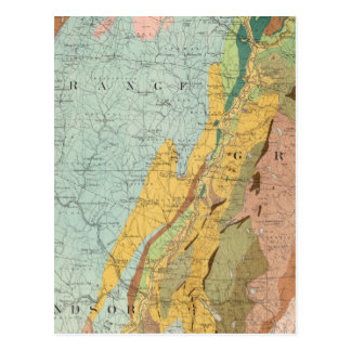 Mapa geológico de New Hampshire 2 Postales