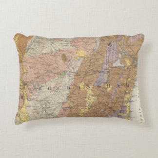Mapa geológico de New Hampshire 4 Cojín Decorativo