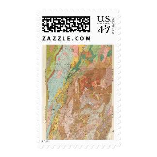 Mapa geológico de New Hampshire Estampilla