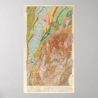 Mapa geológico de New Hampshire Póster