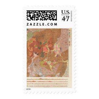 Mapa geológico de New Hampshire Timbre Postal