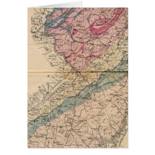Mapa geológico de New Jersey Felicitacion