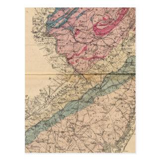 Mapa geológico de New Jersey Postal