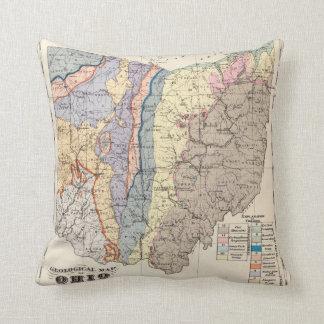 Mapa geológico de Ohio Cojín Decorativo