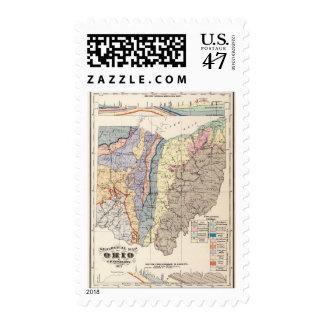 Mapa geológico de Ohio Estampilla