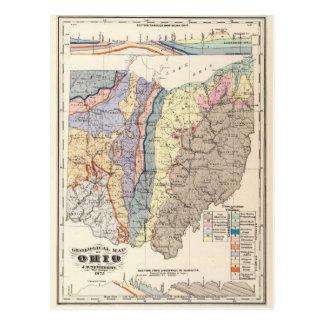 Mapa geológico de Ohio Postales
