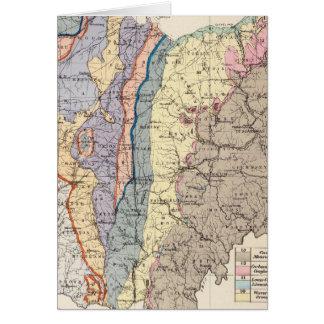 Mapa geológico de Ohio Tarjeta De Felicitación