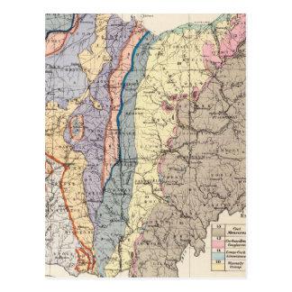 Mapa geológico de Ohio Tarjeta Postal