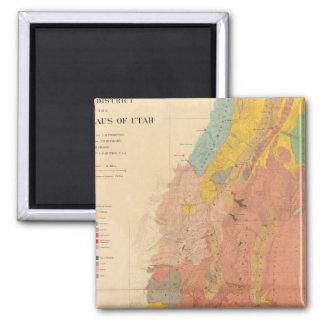 Mapa geológico de Utah Imán Cuadrado