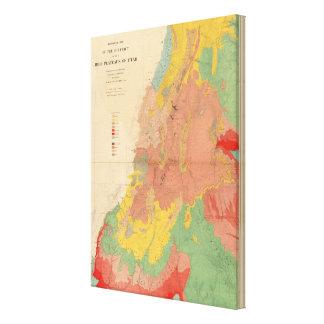 Mapa geológico de Utah Impresion De Lienzo