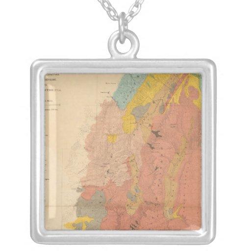 Mapa geológico de Utah Pendiente Personalizado