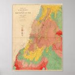Mapa geológico de Utah Póster
