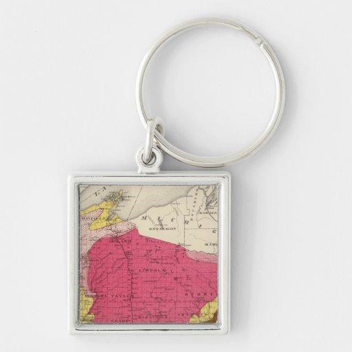 Mapa geológico de Wisconsin Llavero Personalizado