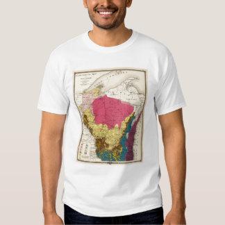 Mapa geológico de Wisconsin Playeras