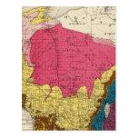 Mapa geológico de Wisconsin Postal