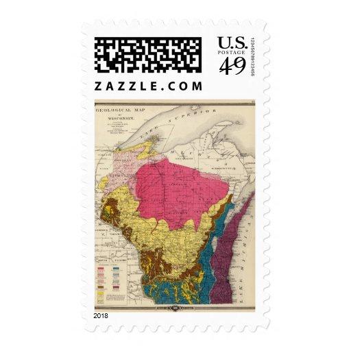 Mapa geológico de Wisconsin Sellos
